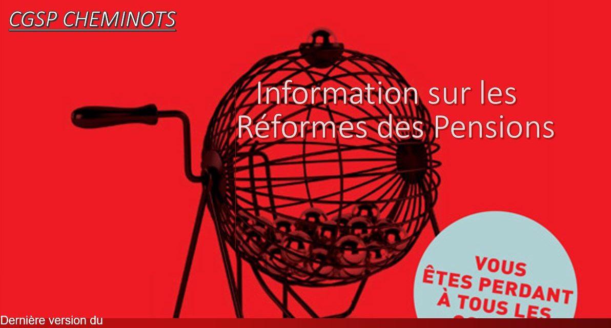 Brochure d'infos «Réforme des pensions»