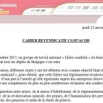 Cahier revendicatif CGSP/ACOD